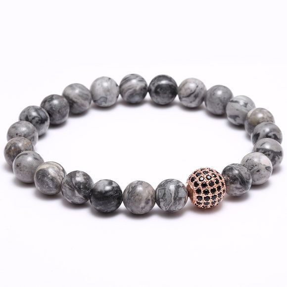 Handmade Studded Ball Semi-Precious Stone Beaded Bracelet