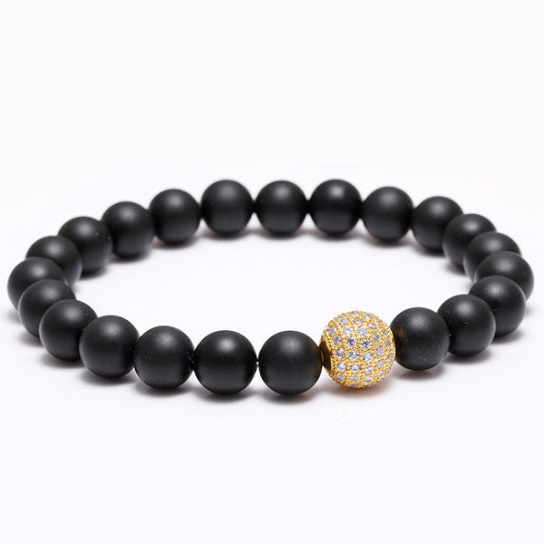 Luxury Handmade Imperial Ball Semi-precious Natural Stone Spiritual Beads Bracelet