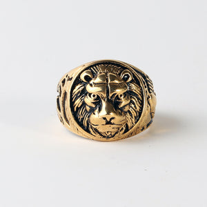 Lion Stainless Steel Ring (2 styles)