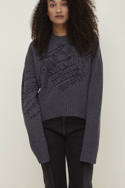 Pan Wool Sweater Grey