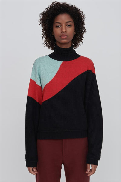 Black Cotton Blend Sweater - Annie
