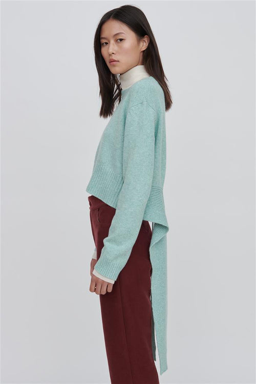 Bleu Cotton Blend Sweater Green