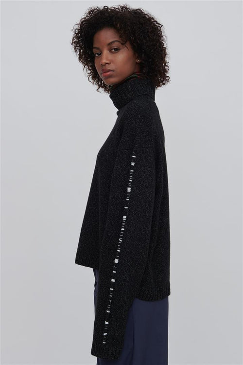 Corenna Wool Turtleneck Sweater Black