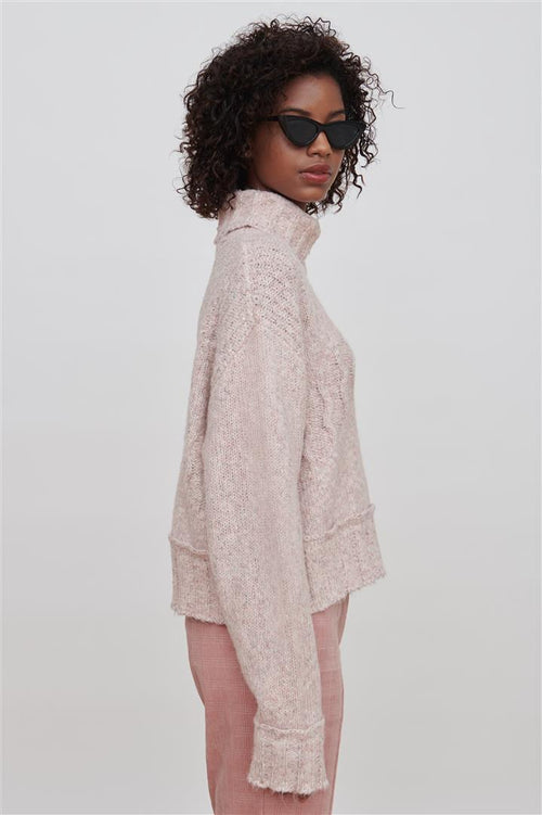 Devon Cotton Blend Sweater Pink