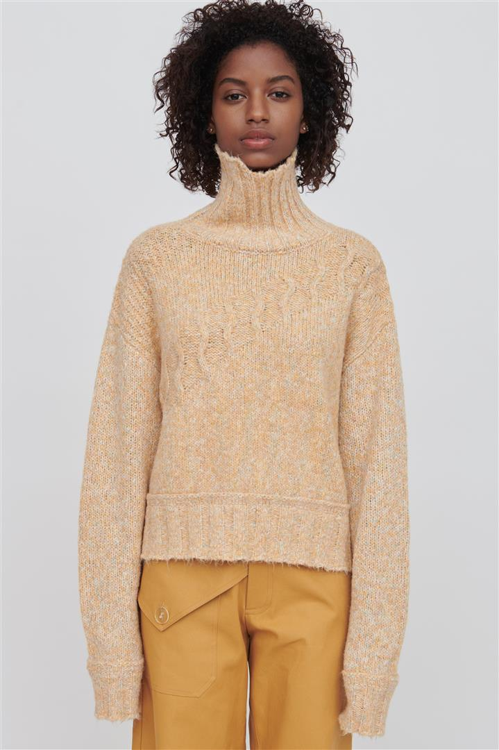 Yellow Cotton Blend Sweater - Devon