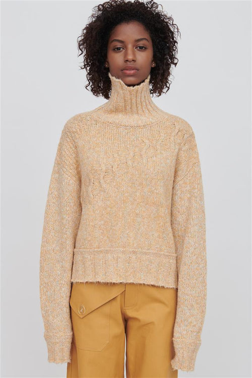 Devon Cotton Blend Sweater Yellow