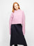 Purple Wool Blend Mock Neck Sweater - Emily