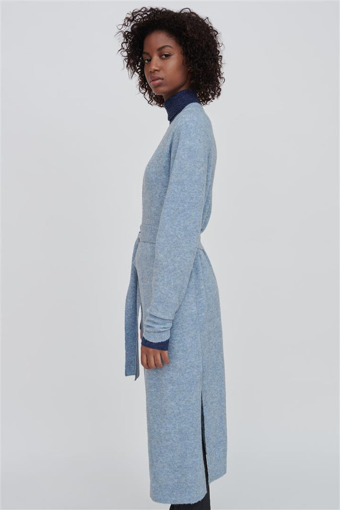 Faith Wool Long Cardigan Blue