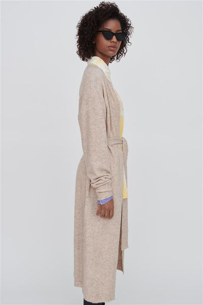 Faith Pink Wool Blend Long Cardigan