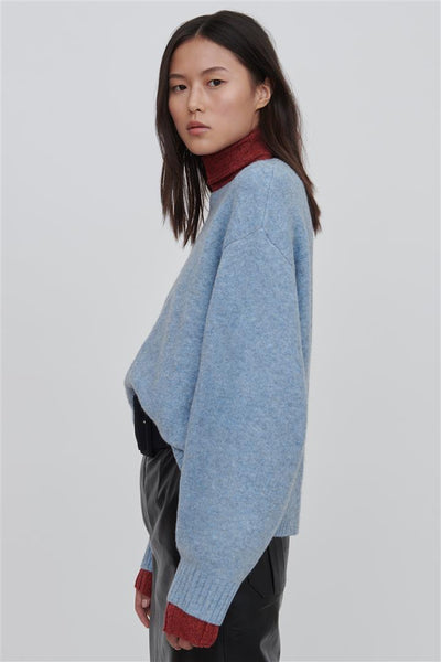 Faye Blue Wool Blend Sweater