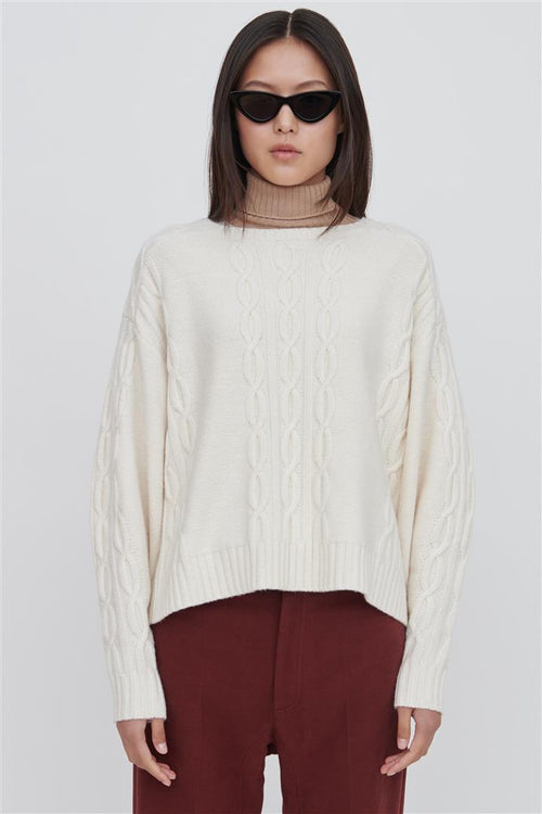 Fifi Wool Sweater White