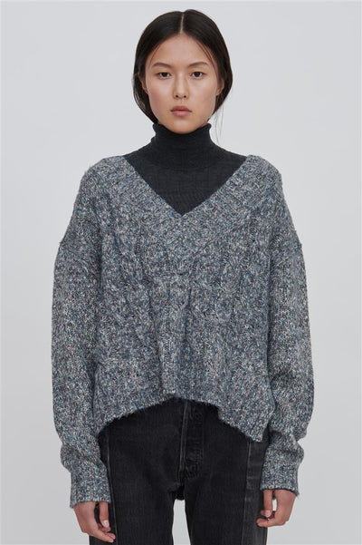 Black Cotton Blend Sweater - Georgia