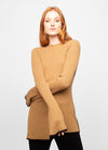 Brown Viscose Wool Blend Crew Neck Sweater - Haley