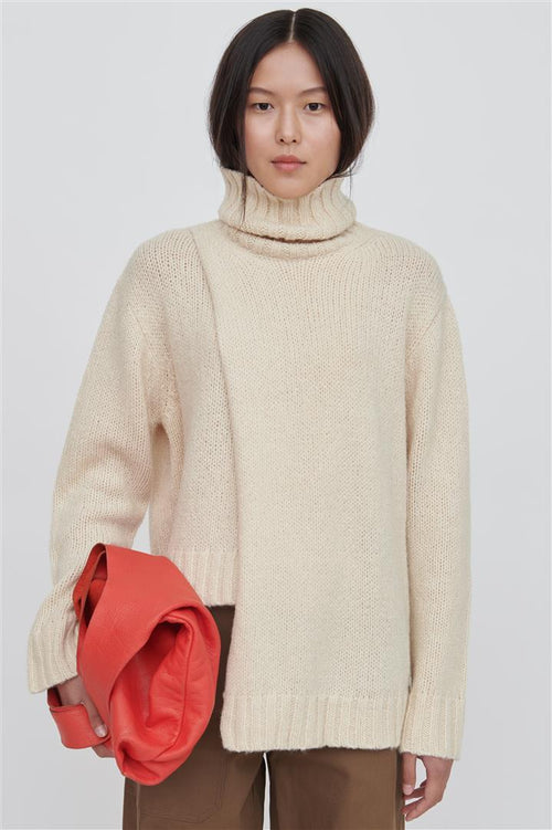 Ina Wool Blend Sweater White