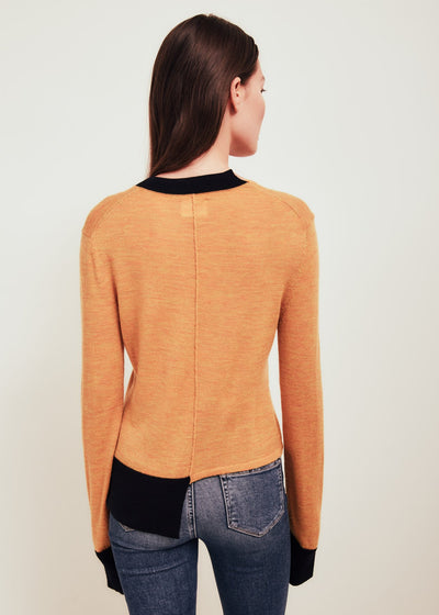 Orange Fine Merino Wool Sweater - Stephie