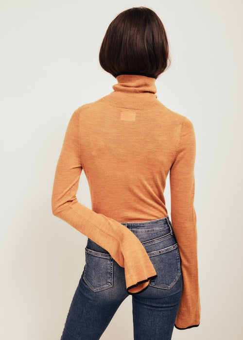 Paloma Orange Fine Merino Wool Sweater