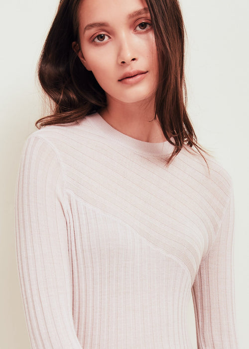Nev Pink Fine Merino Wool Sweater