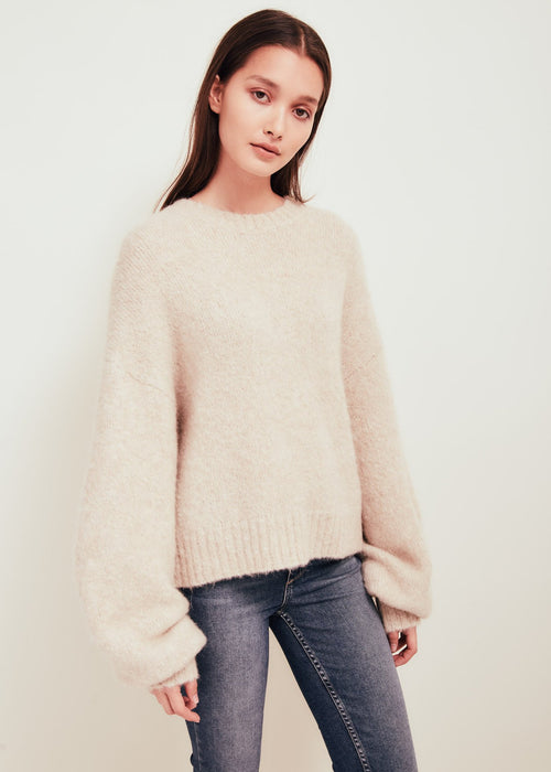 Kat Cashmere Crew Neck Sweater White