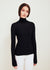 Black Fine Merino Wool Turtleneck Sweater - Tori