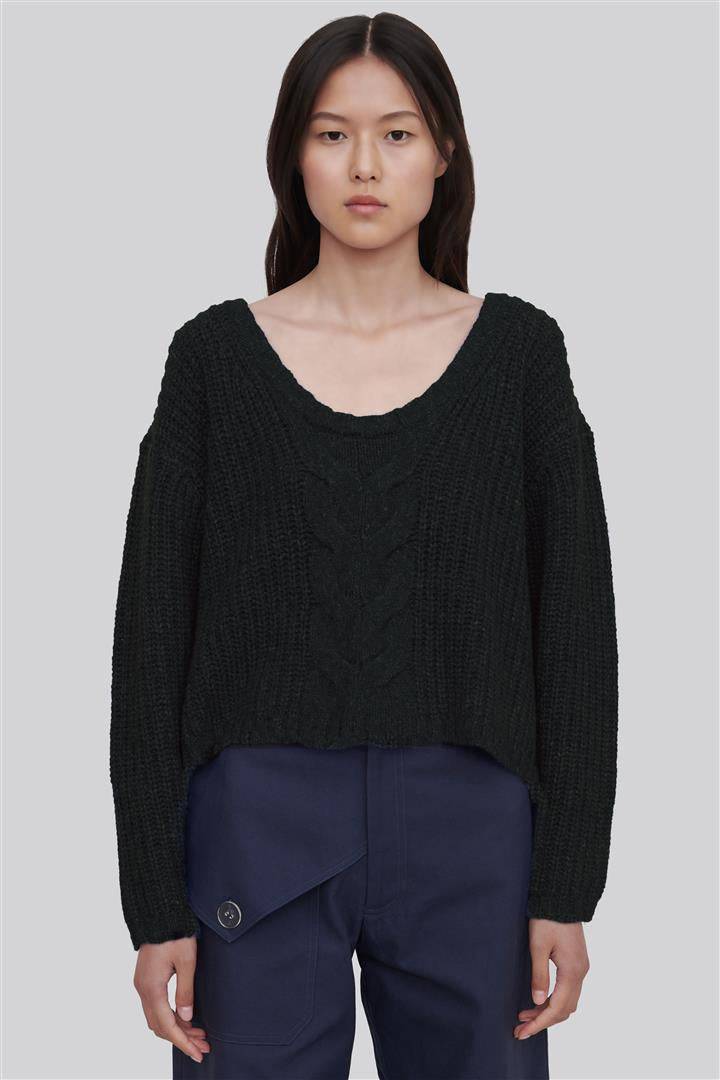 Black Wool Blend Sweater - Liliana