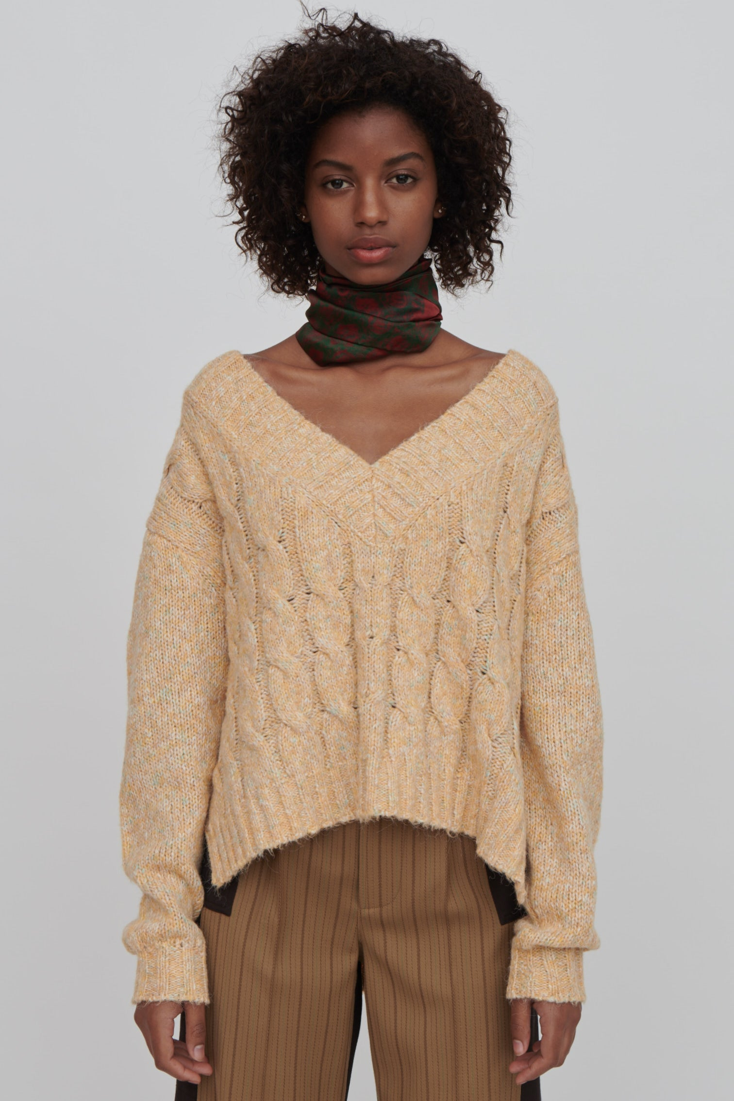 Yellow Cotton Blend Sweater - Georgia