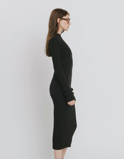 Black Cotton Dress - Olivia