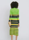 Green Stripe Cotton Dress - Maralina