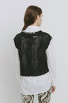 Black Cotton Blend Vest - Isla