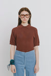 Brown Viscose Blend Polo Neck Sweater - Danika