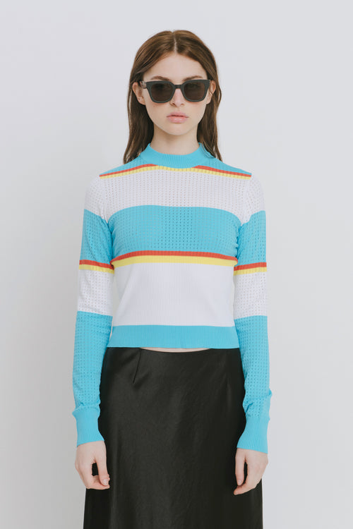 Alexis Blue Crew Neck Sweater