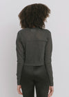 Black Cotton Cardigan - Paula