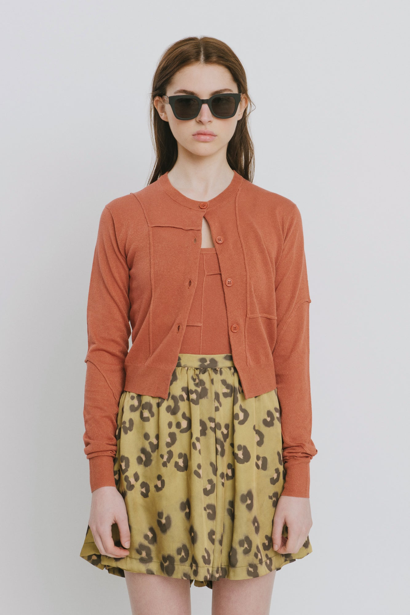 Brown Cotton Cardigan - Paula