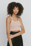 Sabrina Cotton Blend Tank Tops Pink