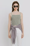 Light Green Linen Tank Top - Lena