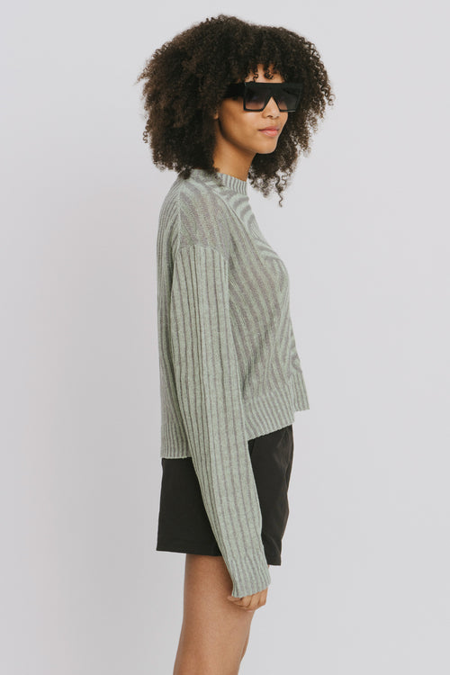 Nora Green Linen Blend Crew Neck Sweater