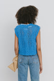 Isla Blue Cotton Blend Vest