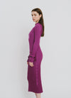 Purple Cotton Dress - Olivia