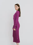 Olivia Purple Cotton Dress