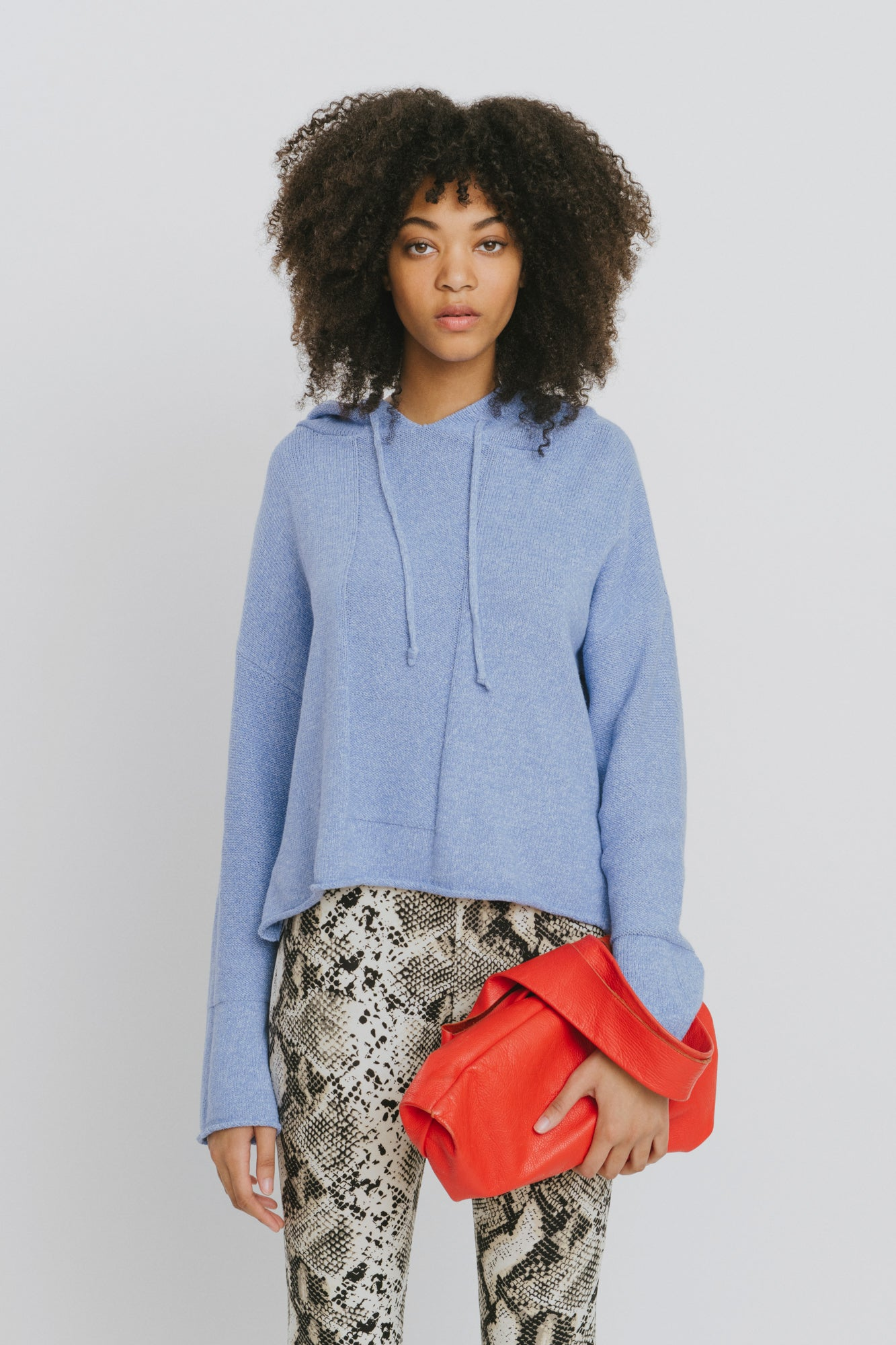 Blue Cotton Hooded Sweater - Benson