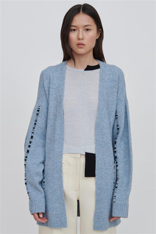 Kara Wool Cardigan Blue