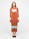 Brown Wool Blend Midi Sweater Dress - Khira