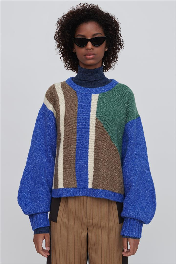Blue Wool Blend Sweater - Leanne
