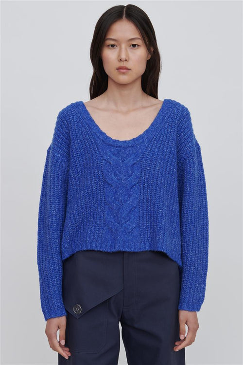 Liliana Cotton Blend Sweater Blue