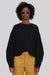 Black Wool Crew Neck Sweater - Mira