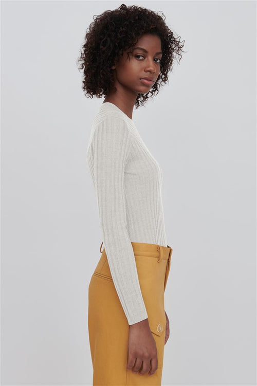 Nev Fine Merino Wool Sweater White