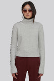 Paupa Mock Neck Wool Sweater White