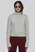White Wool Mock Neck Sweater - Paupa