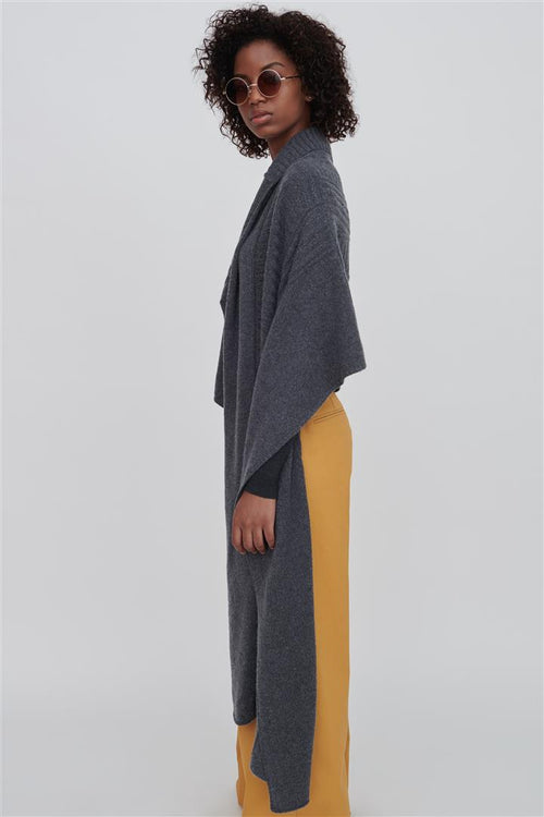 Reid Wool Wrap Grey