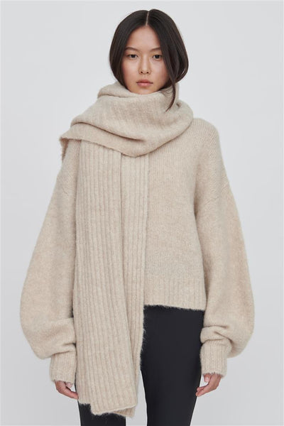 White Cashmere Blend Wrap - Riley