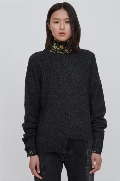 Black Wool Blend Sweater - Romi